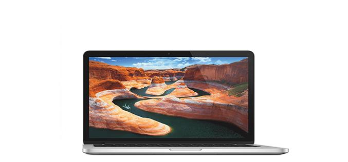 Laptop Apple MacBook Pro 13 cu procesor Intel® Dual Core™ i5 2.70GHz, Broadwell™, 13.3″, Ecran Retina, 8GB, 128GB SSD, Intel® Iris™ Graphics 6100, OS X Yosemite, INT KB