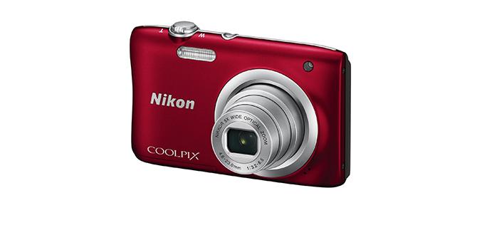Aparat foto digital Nikon COOLPIX A100, 20.1MP Rosu